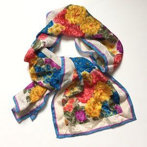 Vintage Albert Nipon Silk floral scarf